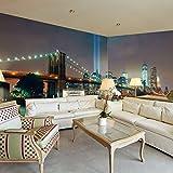 murando - Eckfototapete 550x250 cm - Vlies Tapete - Moderne Wanddeko - Design Tapete - Wandtapete - Wand Dekoration - Brücke Stadt City d-A-0035-a-a