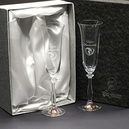 Champagner Personalisierter (Gläser und Gläser mit Personalisiertem Champagner.)