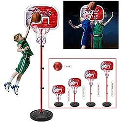emotree 85–200cm Niños Canasta de baloncesto Soporte ajustable canasta Juego Niños Regalo