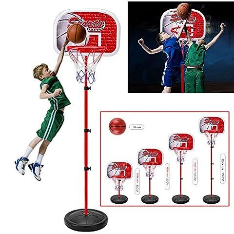 Panier Basket Exterieur - emotree 85–200cm enfants panier de basketball réglable