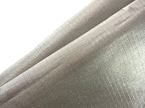 Tissu conducteur Jwtextec antiradiation blindage EMI conducteur Tissu Tissu de blocage RFID pour écran tactile Gants, Nickel Polyester Cuivre, argent foncé, 39.37x19.865 Inches(1mX0.5m)