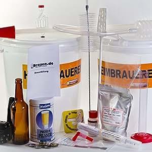 brauf sschen kit de brassage quipement complet pour bierkit brauer jusqu 39 23 l bi re amazon. Black Bedroom Furniture Sets. Home Design Ideas