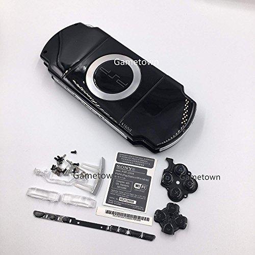 New Ersatz Sony PSP 2000Konsole Full Gehäuse Shell Cover mit Button Set-Schwarz. (Abdeckungen Gehäuse Psp Und)