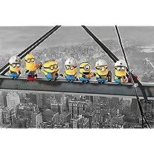 Empire merchandising 669483 Despicable Me, de Gru Lunch on a de rascacielos, fácil de incorregible Póster de la película, de tamaño de 91,5 x 61 cm