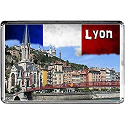 E003 LYON AIMANT POUR LE FRIGO FRANCE TRAVEL PHOTO REFRIGERATOR MAGNET