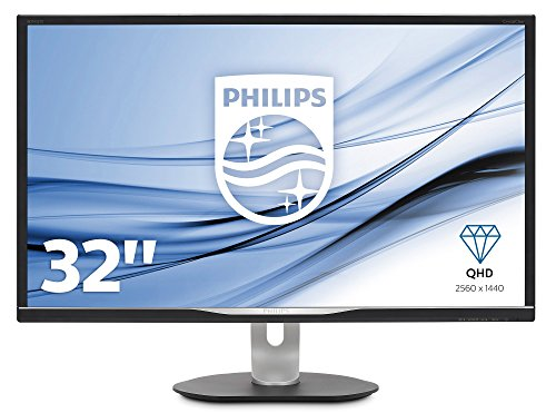 Philips BDM3270QP/00 81 cm (32 Zoll) Monitor (VGA, HDMI, DisplayPort, 4 x USB, 2560 x 1440, 60 Hz, 5 ms, Pivot) schwarz - 2 Vga-video-karte