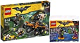 The LEGO Batman Movie 70914 - Der Gifttruck von Bane + LEGO 30523 Batman Movie The Joker Battle Training polybag MINI set