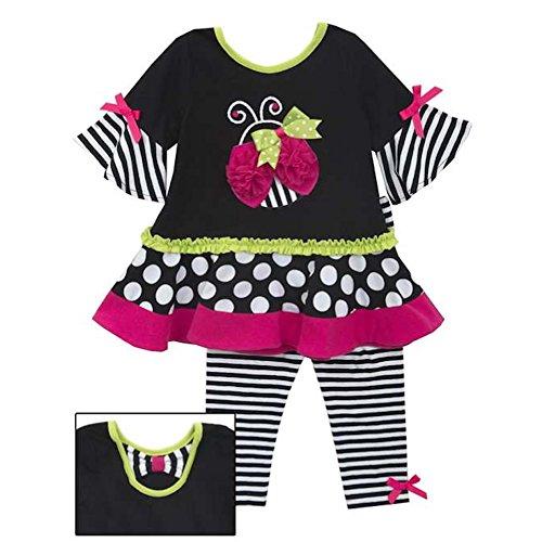 Preisvergleich Produktbild RARE EDITIONS 2tlg. SET Kleid 1/1 Arm & Leggings, Mädchen Outfit, Kombination, MARIENKÄFER F293255 HW2015, Gr. 2T (ca. 92)
