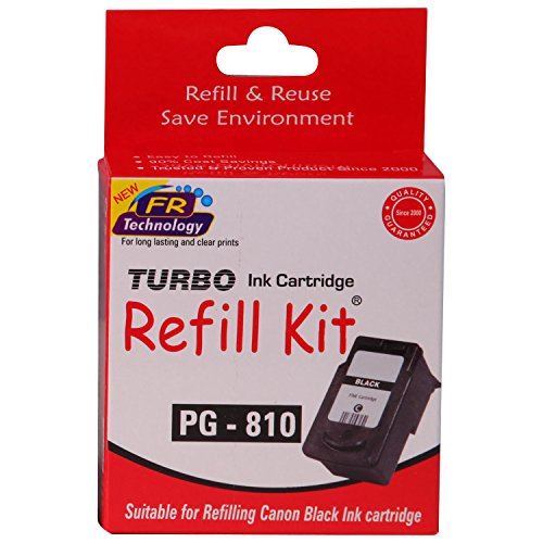Turbo refill kit for Canon 810 black ink cartridge  available at amazon for Rs.294