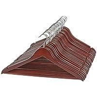 AmazonBasics Wood Suit Hangers - 30 Pack, Cherry