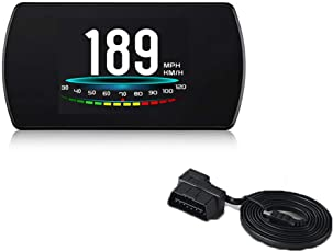 VIGORFLYRUN PARTS LTD P12 5,8 Zoll Hud Head Up Display Digital Auto Geschwindigkeit Projektor Bordcomputer TFT OBD Geschwindigkeitsmesser Kraftstoffverbrauch Temperatur RPM Navigation