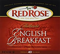 Red Rose English Breakfast Tea 40 ct (Case of 6 boxes)