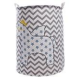 Stoff Faltbarer Wäschekorb, Kinder Spielzeug Aufbewahrungsbeutel (Welle)