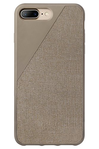 Native Union CLIC Canvas Case - Fallbeständiges Schutz-Cover - Aus Hochwertigem Gewebe für iPhone 7 Plus, iPhone 8 Plus (Taupe)