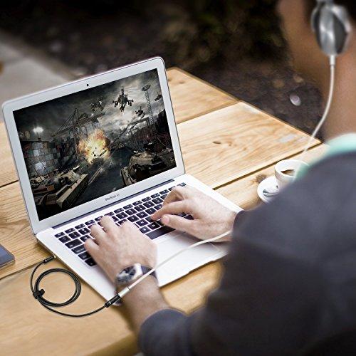 Syncwire Audio Verlängerungskabel Kopfhörer Verlängerungskabel – 3.5mm Aux Verlängerungskabel für Kopfhörer, Apple iPod iPhone iPad, Smartphones, MP3 Player – 1m Schwarz - 6