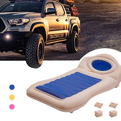 HYM Auto Aufblasbares Bett Tragbare Camping Luftmatratze (Tragbar) Reisen, Camping, Urlaub, Rücksitz Isomatte Geeignet für BMW 1er 3er 5er,Blue