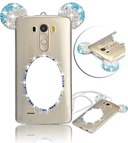 Vandot Etui Transparent Case pour LG G4 Stylus LS770 Coque de Protection en TPU Gel Invisible avec Absorption de Chocs Etui TPU Silicone Case Ultra Slim Thin Hull pour LG G4 Stylus LS770 Souple Couver MQ Mirror-Bleu
