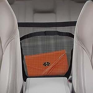 Bao core pour coffre de voiture en maille filet Organiseur Sac de rangement Siège auto Sac Étui pour téléphone portable pochette sac à main portefeuille noir