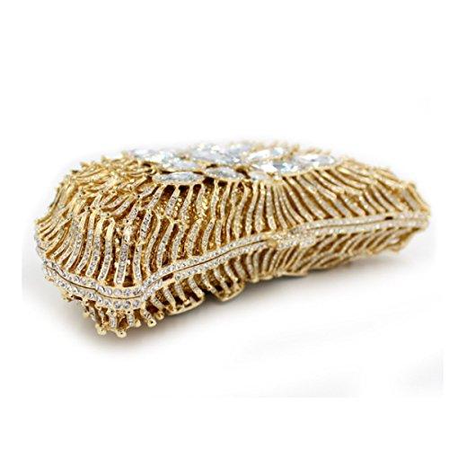Borsa Di Lusso Frizione Borsa Da Sera Di Cristallo Di Diamante Delle Donne Gold