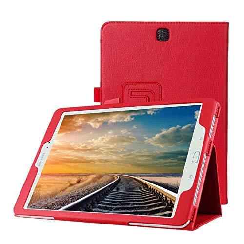 Tasche für Samsung Galaxy Tab A SM-T550 T551 T555 9.7 Zoll Schutz Hülle Flip Tablet Cover Case (Rot) Neu
