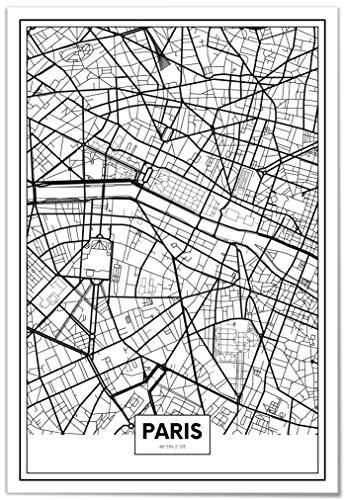 Panorama® Póster Mapa París 50 x 70 cm | Impreso