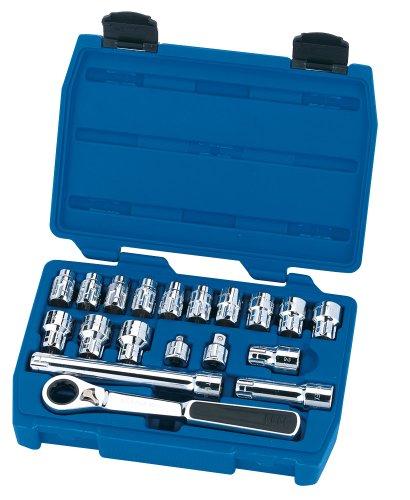 Draper Expert 40197 Coffret clé à cliquet/douilles Vortex Système métrique 20 mm 19 pièces