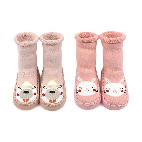 Adorel Calcetines Zapatos Antideslizantes Forros Bebé 2 Pare 6
