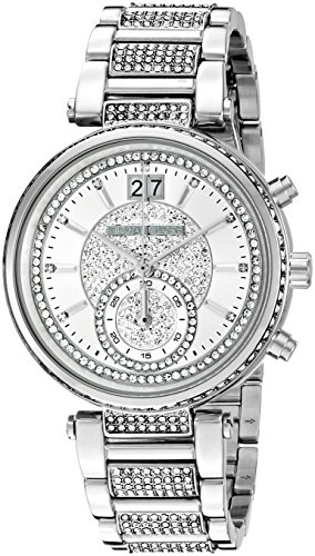 Michael Kors Women's Sawyer Silver-Tone Watch MK6281 (Michaels Watches Women Kors)