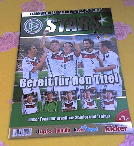 Preisvergleich Produktbild Ferrero Sammelheft WM 2014 Team-Sticker Album Hanuta Duplo Sammelalbum Kinderriegel