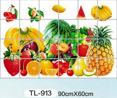 Zs Sticker Küche Aluminiumfolie wasserdicht dekorative Fliesenaufkleber Wohnkultur Küchenaccessoires Wandaufkleber
