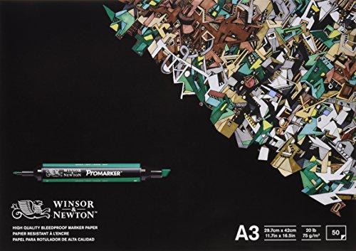 Winsor & newton - blocco di 50 fogli di carta a3 per pennarelli