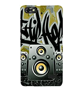 Fiobs Designer Phone Back Case Cover Huawei Honor 4C :: Huawei G Play Mini ( Attitude Speaker Music Loud Rock Band )