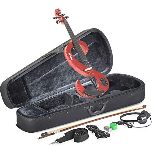 Preisvergleich Produktbild Stagg EVN 4 / 4 MRD Silent Violinenset 4 / 4,  Metallic Rot