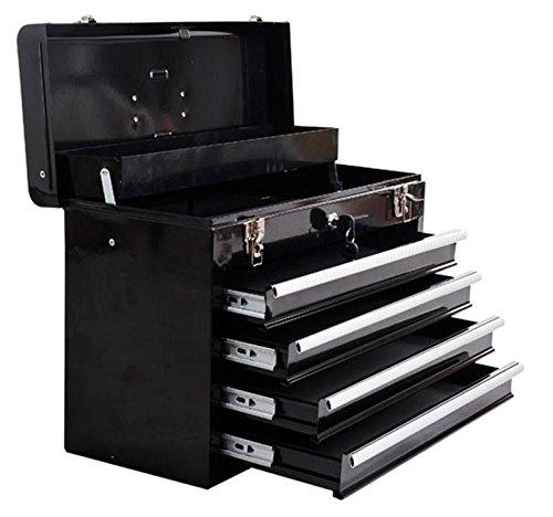 '* Meta Mechaniker-er portabl mit Toolbox hanic T-Est Toolbox uti 4-drawer Tragbare metal-box lbox-, Schwarz