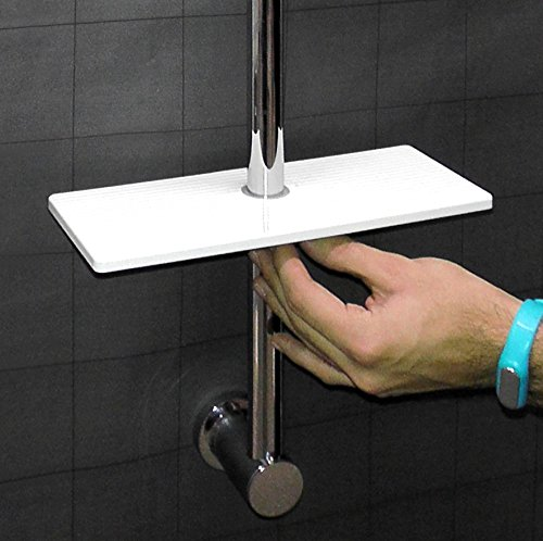 Accessori Portasapone Per Doccia.Waterful T190229 Mensola Universale Per Asta Doccia
