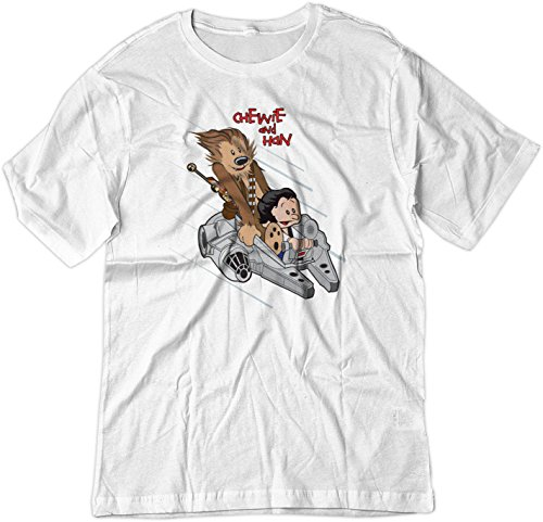 BSW Men's Chewie and Han Calvin and Hobbes Falcon Star Wars Shirt