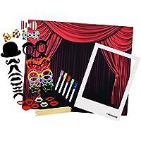 Polaroid Kit Todo en Uno para Cabina de Fotos – Incluye Fondo, Divertidos accesorios para Fotos, Marco extra grande estilo Polaroid – Perfecto para fiestas, eventos familiares y corporativos.