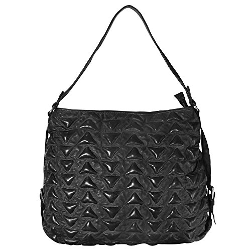 Billy the Kid Marokko Alia Triangle Sac à main - Fourre-tout cuir 41 cm Black