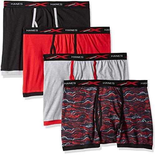 Hanes Herren Active Cool X-Temp Short Leg Boxer Brief 4-Pack Slip, Sortiert, Medium (4er (Classics Hanes Cotton-slip)