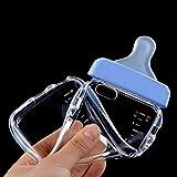 Lumanuby 1 Stück Transparent Handyhülle für iPhone 6/6s Schöne Babyflasche Design mit Lanyard Handy Schutzhülle aus TPU, Telefon Fall Serie (Blau)