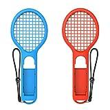 Tennisschläger für Joy-Con für Mario Tennis Aces Nintendo Schalter (2Pcs) Pre-Order Preis $ 11.99mit Geschenk Rot/Blau