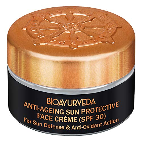 BIOAYURVEDA Sun Protective Face Cream with SPF 30(UVA/UVB) Protection,Skincare With Organic Ingredients, Fine Lines,Wrinkles, Dark Spots 20gm