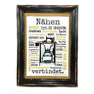 Nähen verbindet. Druck Poster Nähmaschine AnneSvea Sewing Handmade Deko Nähzimmer Stoffgeschäft Nähtisch