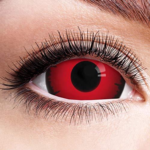 Farbige Kontaktlinsen Schwarz Rot Ohne Stärke mit Motiv Linsen Halloween Karneval Fasching Cosplay...