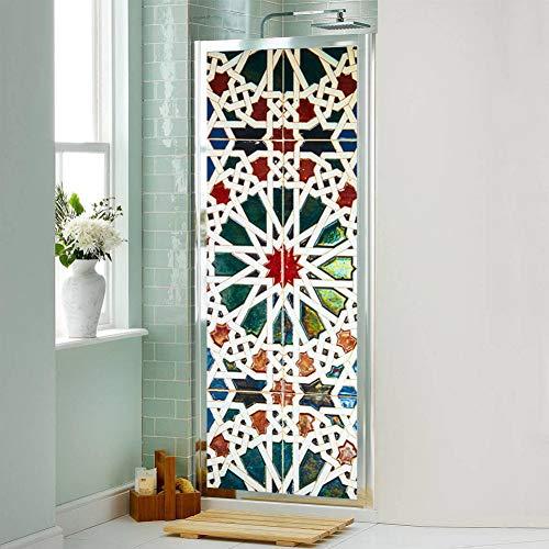 WWAAXX 77 * 200 cm DIY Tür Aufkleber Aufkleber Für Wohnzimmer Schlafzimmer Einrichtungsgegenstände Zubehör Wasserdichte Poster Tapete