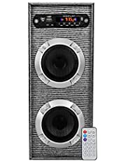 Classic Gold Mt2-118 Single Tower Speaker System (Black) with Bluetooth,USB, Aux, FM, MMC