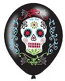 Horror-Shop Partydeko Luftballons Totenschädel 6 St.   im Sugar Skull Look