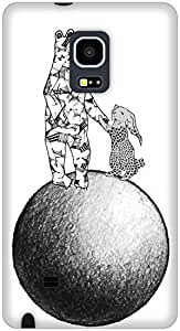 The Racoon Lean The Moon Rescue hard plastic printed back case / cover for Samsung Galaxy Note Edge