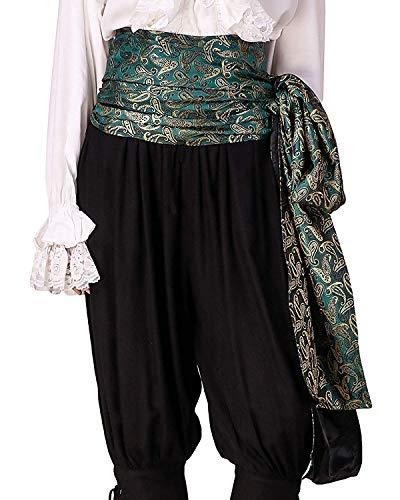 C1417 Schärpe, Pirat, mittelalterliche Renaissance, Leinen, groß Gr. onesize, Brocade# 97 (Lined With Satin Fabric) -