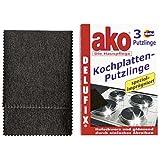 Delu ako Kochplatten-Putzlinge 3 Stück Putztuch Reinigungstuch